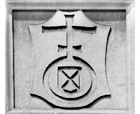 shield-like image containing a cross