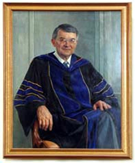 Portrait of Eaton, seated in academic gown