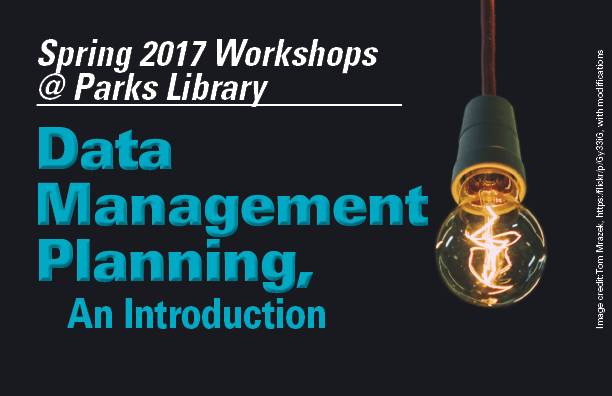 Data Management Planning: and Introduction. Image of lightbulb turned on.